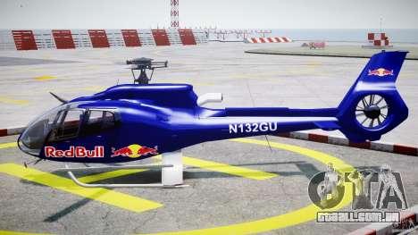 Eurocopter EC130 B4 Red Bull para GTA 4 esquerda vista