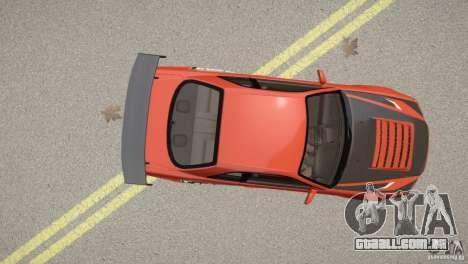 Nissan Skyline GT-R R34 Underground Style para GTA 4 vista de volta