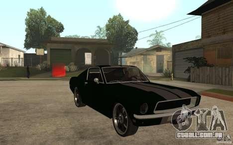 Ford Mustang TOKYO DRIFT para GTA San Andreas vista traseira