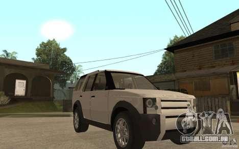 Land Rover Discovery 3 V8 para GTA San Andreas vista traseira