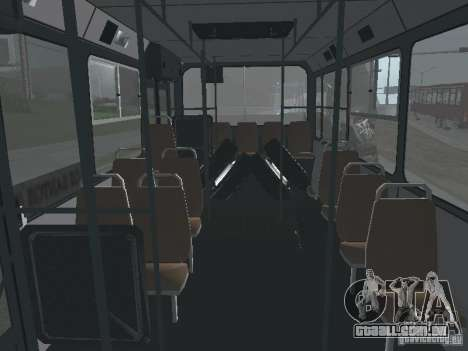 Trailer de Liaz 6212 para GTA San Andreas vista interior