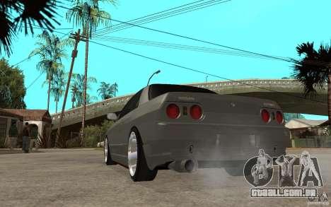 Nissan Skyline R32 - EMzone Edition para GTA San Andreas traseira esquerda vista