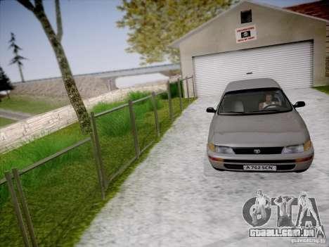 Toyota Corolla para GTA San Andreas vista interior