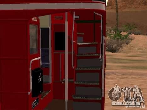 AEC RouteMaster RML para GTA San Andreas vista interior