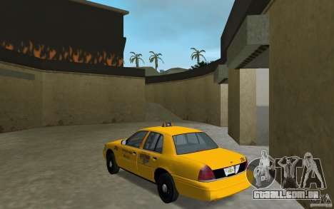 Ford Crown Victoria Taxi para GTA Vice City vista traseira esquerda