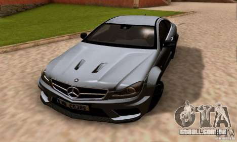 Mercedes-Benz C63 AMG para GTA San Andreas vista superior