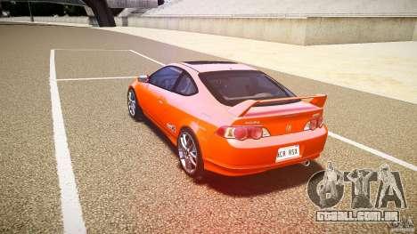 Acura RSX TypeS v1.0 stock para GTA 4 traseira esquerda vista
