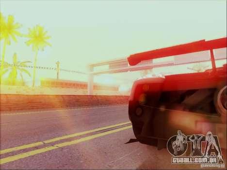 Pagani Zonda Cinque para GTA San Andreas vista traseira
