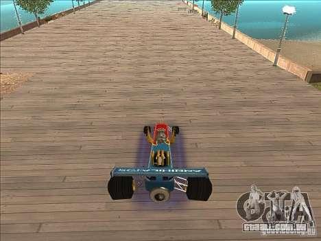 Dragg car para GTA San Andreas vista traseira