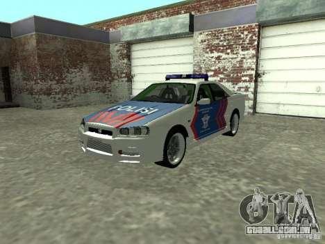 Nissan Skyline Indonesia Police para GTA San Andreas
