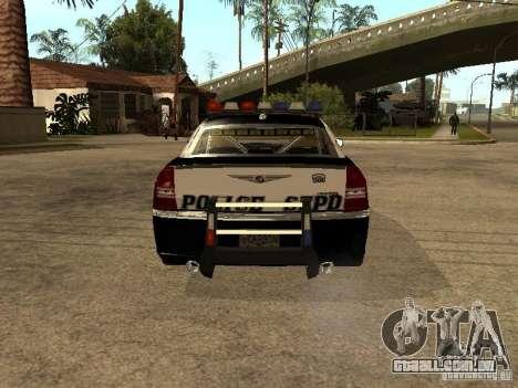 Chrysler 300C Police para GTA San Andreas vista direita