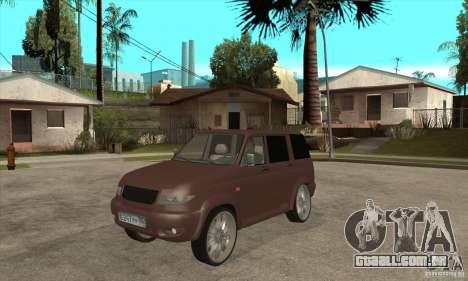 UAZ Patriot para GTA San Andreas esquerda vista