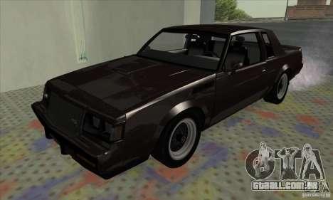Buick Regal GNX 1987 para GTA San Andreas