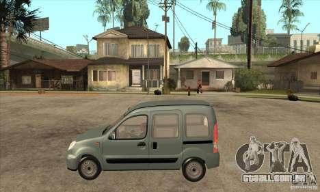 Renault Kangoo 2005 para GTA San Andreas esquerda vista