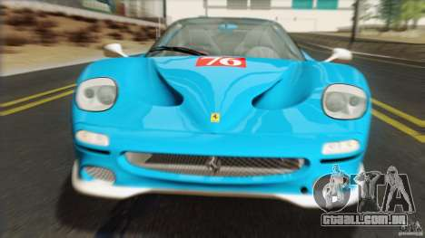 Ferrari F50 v1.0.0 Road Version para GTA San Andreas vista traseira