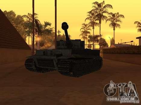 Pzkpfw VI Tiger para GTA San Andreas vista direita
