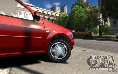 Dacia Logan 2008 para GTA 4 vista de volta