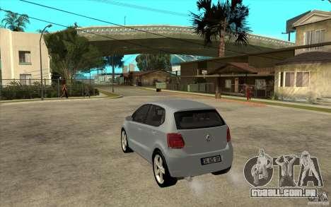 Volkswagen Polo 2011 para GTA San Andreas traseira esquerda vista