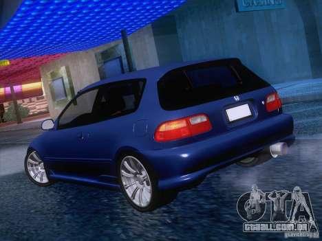 Honda Civic IV GTI para GTA San Andreas vista direita