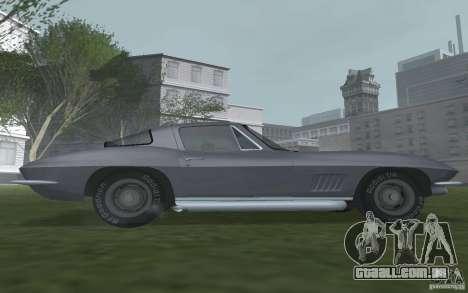 Chevrolet Corvette 427 para GTA San Andreas traseira esquerda vista