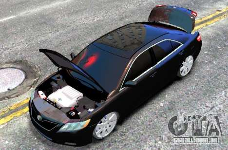 Toyota Camry V6 3.5 2007 para GTA 4 vista direita
