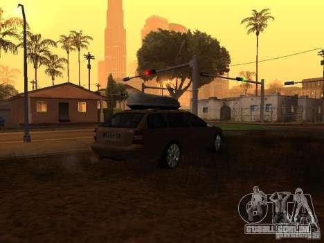 Skoda Octavia para GTA San Andreas vista interior
