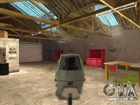 Ape Piaggio para GTA San Andreas esquerda vista