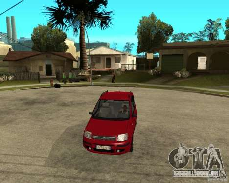 2004 Fiat Panda v.2 para GTA San Andreas vista traseira