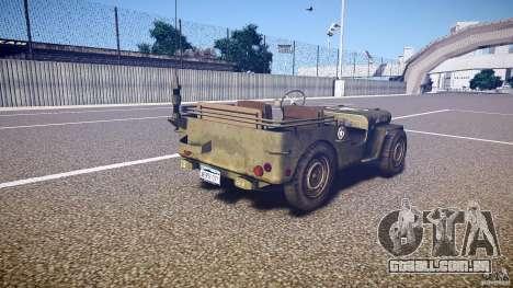 Walter Military (Willys MB 44) v1.0 para GTA 4 vista lateral