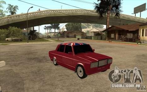 VAZ 2107 Hobo, v. 2 para GTA San Andreas vista traseira