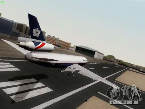 McDonell Douglas DC-10-30 British Airways para GTA San Andreas vista direita