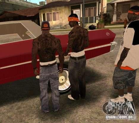Bandas de substituição, tatuagens, roupas, etc. para GTA San Andreas nono tela