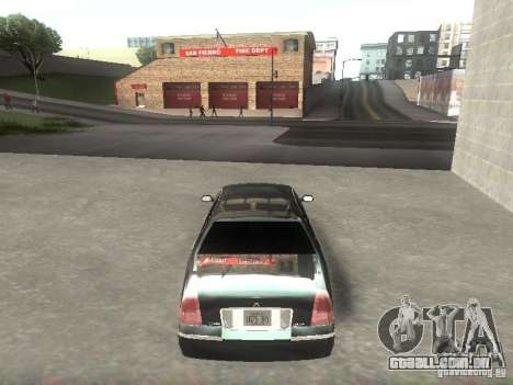 Lincoln Town car sedan para GTA San Andreas vista direita