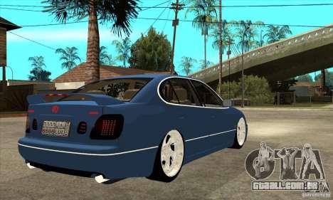 Lexus GS300 V 2003 para GTA San Andreas vista traseira