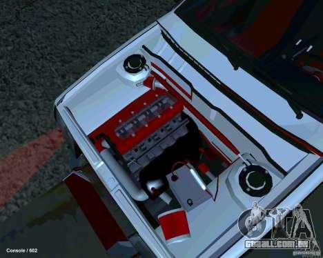 VAZ 2108 Drag para GTA San Andreas vista traseira