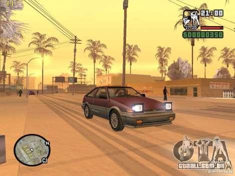 Toyota Corolla para GTA San Andreas esquerda vista