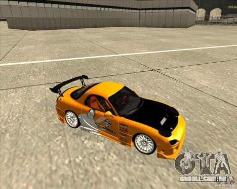 Mazda RX-7 sumopoDRIFT para GTA San Andreas vista traseira