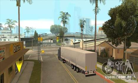 Trailer para GTA San Andreas vista traseira