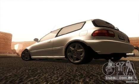 Honda Civic VTI 1994 para GTA San Andreas traseira esquerda vista