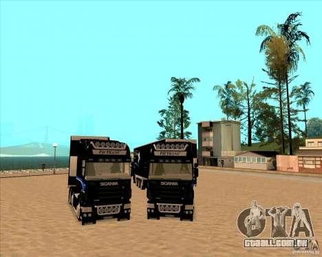 Scania R620 Pimped para GTA San Andreas vista traseira