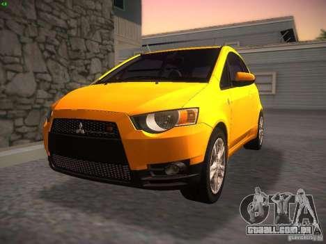 Mitsubishi Colt Rallyart para GTA San Andreas vista traseira