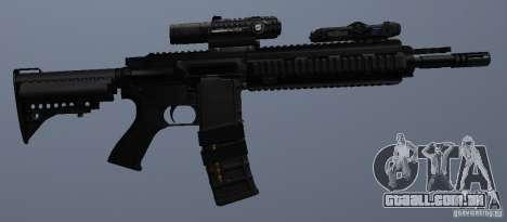 Carabina HK416 para GTA San Andreas sexta tela