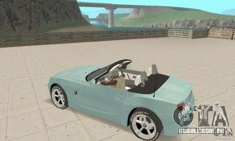 BMW Z4 Roadster 2006 para GTA San Andreas vista superior