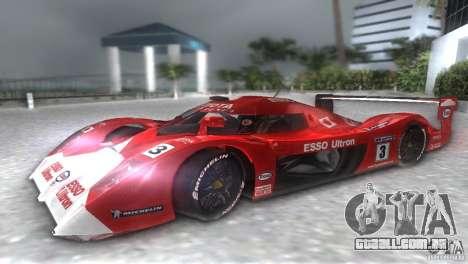 Toyota GT-One TS020 para GTA Vice City vista direita