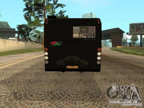 Trailer de Liaz 6213.70 para GTA San Andreas esquerda vista