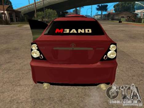 Toyota Camry 2005 TRD para GTA San Andreas traseira esquerda vista