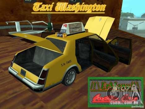 Taxi Washington para GTA San Andreas vista traseira