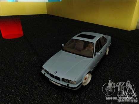 BMW 5 series E34 para GTA San Andreas vista traseira