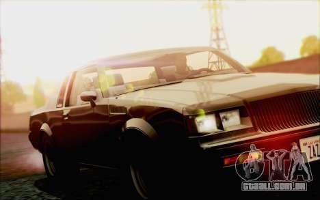 Buick GNX 1987 para GTA San Andreas vista inferior