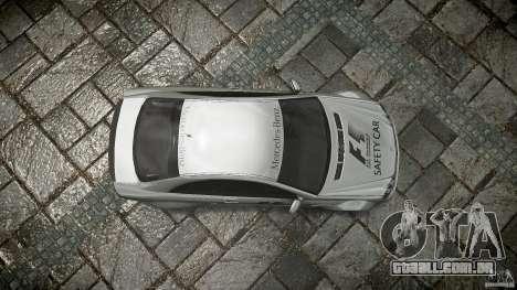 Mercedes Benz CLK63 AMG Black Series 2007 para GTA 4 vista superior